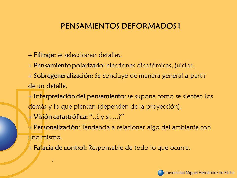 PENSAMIENTOS DEFORMADOS I