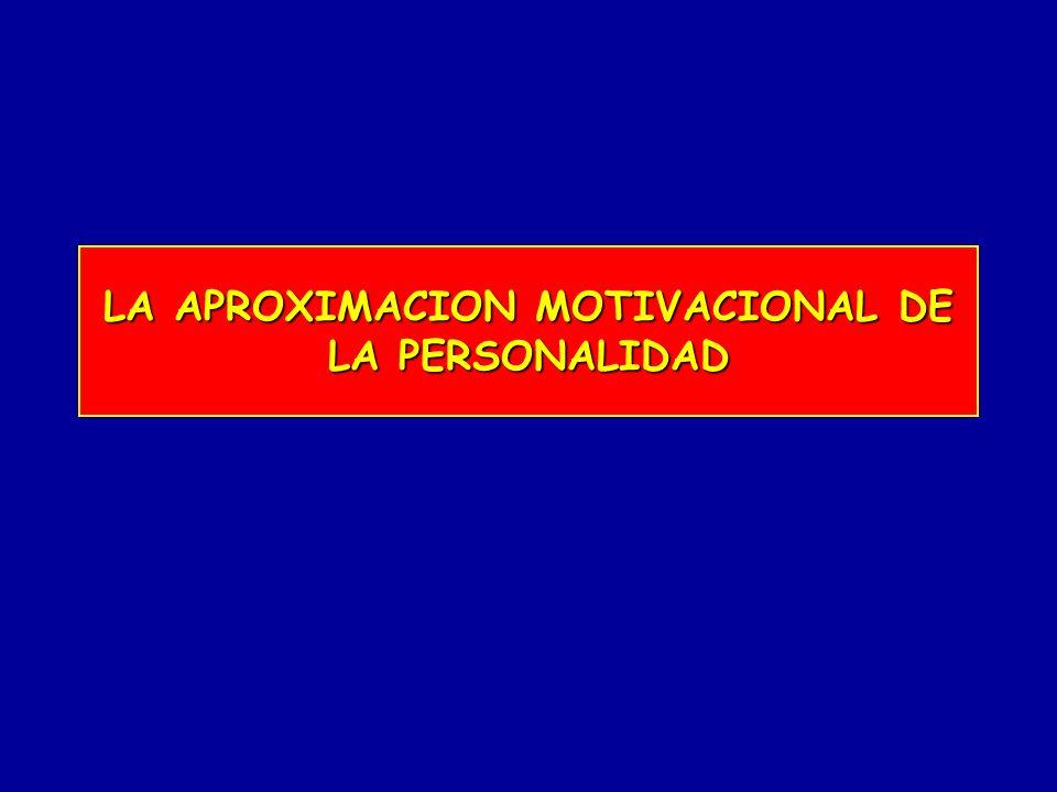 LA APROXIMACION MOTIVACIONAL DE LA PERSONALIDAD