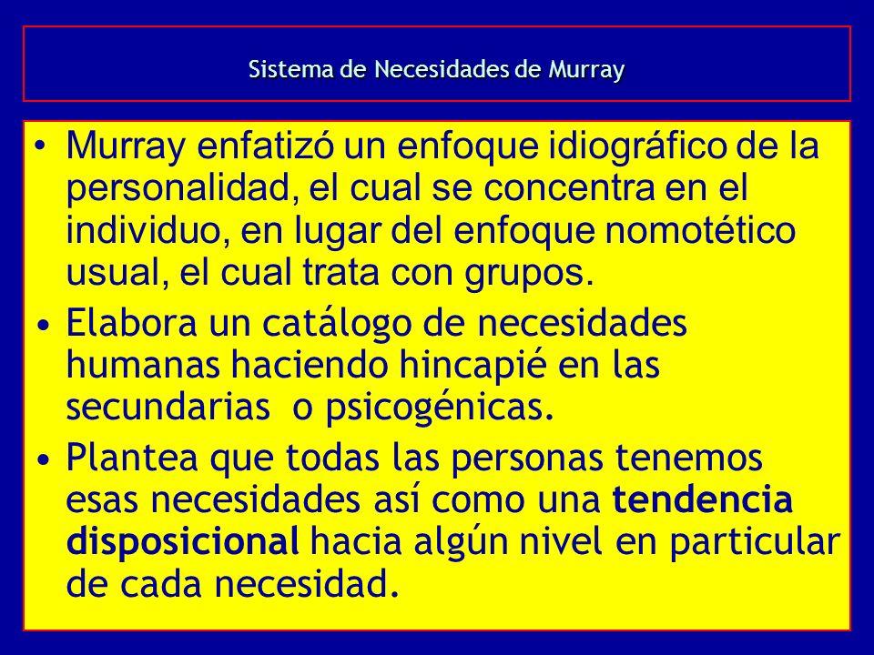 Sistema de Necesidades de Murray