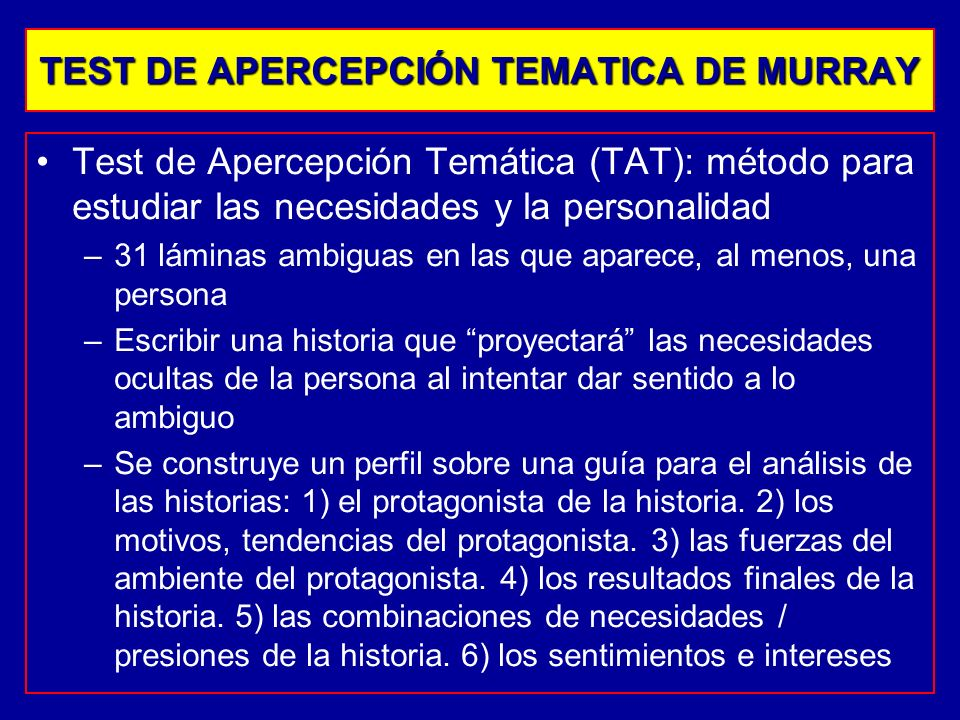 TEST DE APERCEPCIÓN TEMATICA DE MURRAY