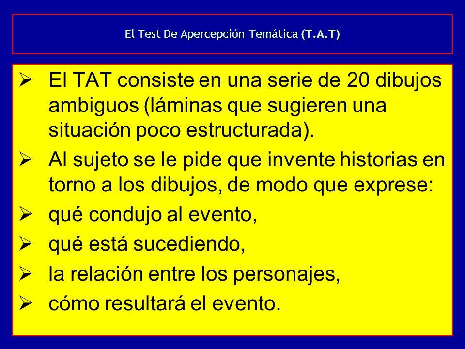 El Test De Apercepción Temática (T.A.T)