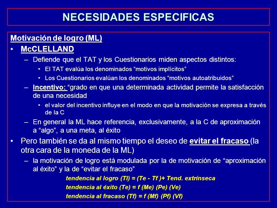 NECESIDADES ESPECIFICAS