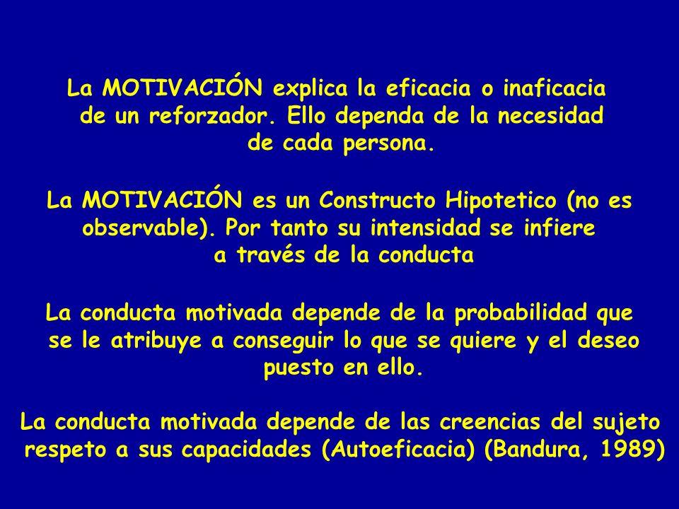 La MOTIVACIÓN explica la eficacia o inaficacia
