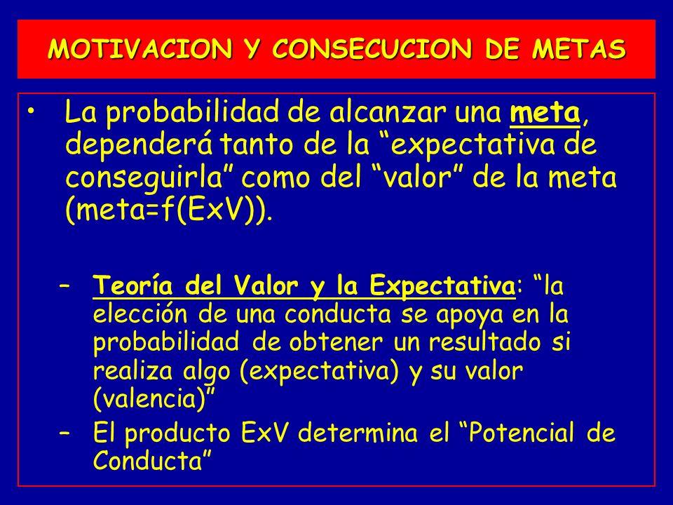 MOTIVACION Y CONSECUCION DE METAS