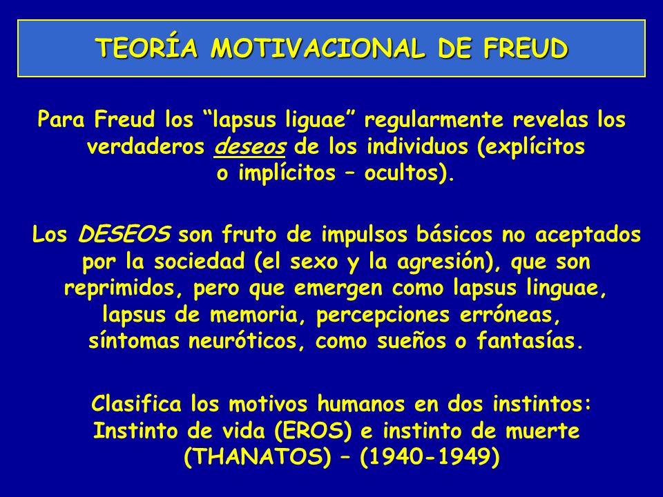 TEORÍA MOTIVACIONAL DE FREUD