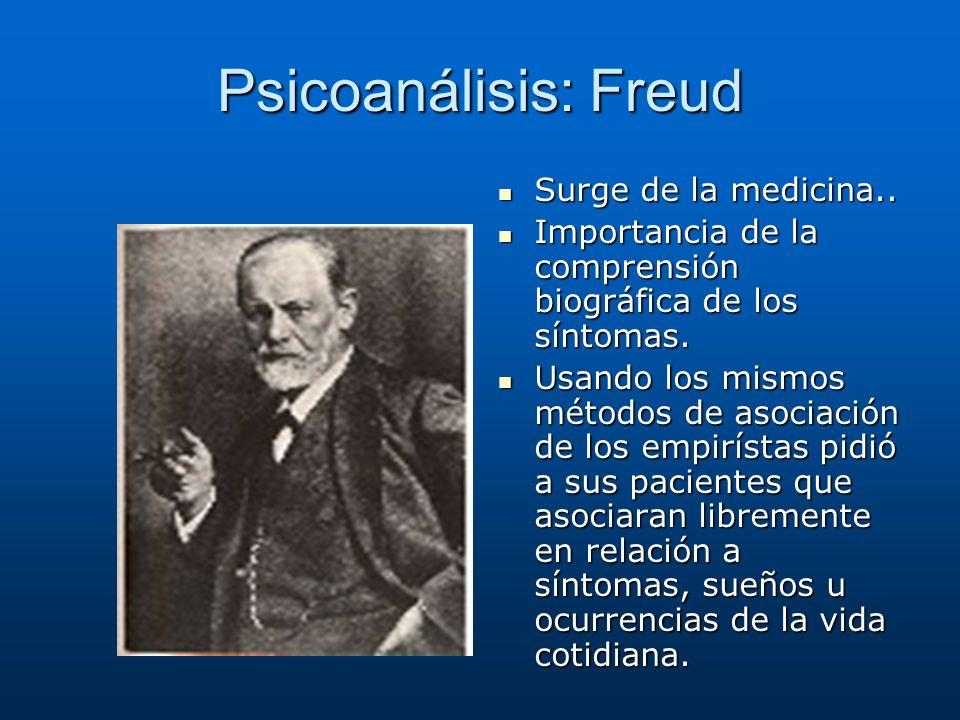 Psicoanálisis: Freud Surge de la medicina..
