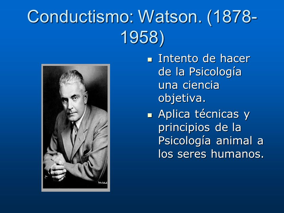 Conductismo: Watson. (1878-1958)
