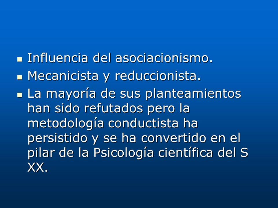 Influencia del asociacionismo.