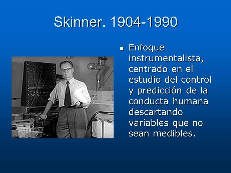 Skinner. 1904-1990