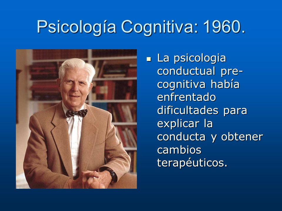 Psicología Cognitiva: 1960.