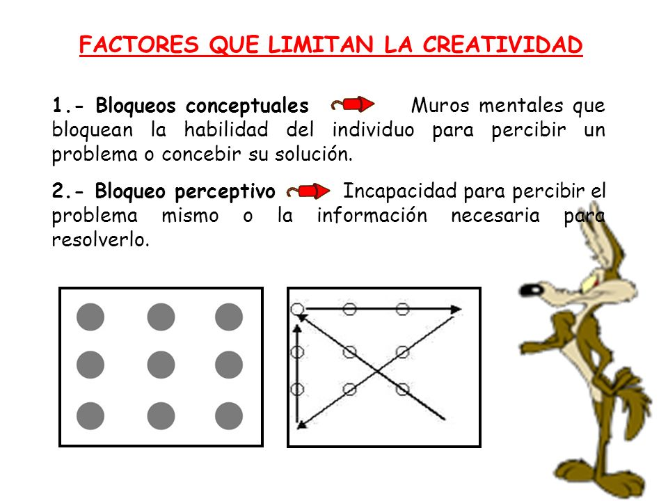 FACTORES QUE LIMITAN LA CREATIVIDAD