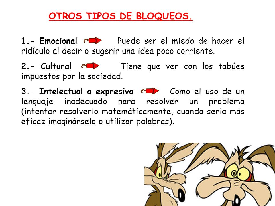 OTROS TIPOS DE BLOQUEOS.