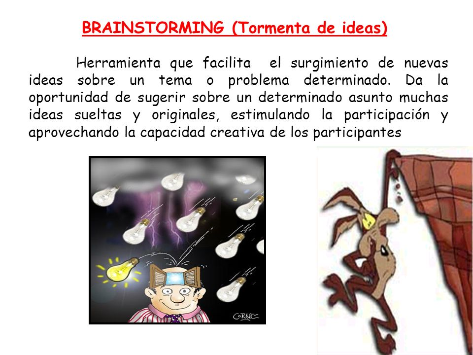 BRAINSTORMING (Tormenta de ideas)