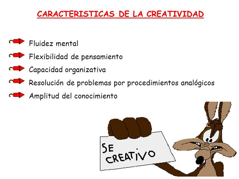 CARACTERISTICAS DE LA CREATIVIDAD