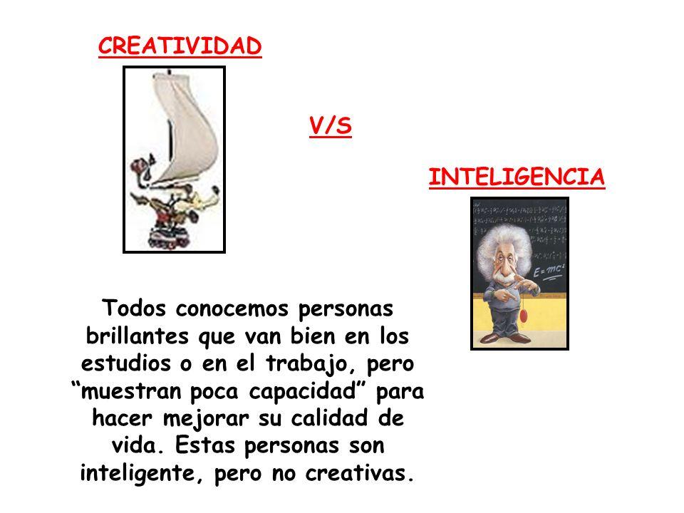 CREATIVIDAD V/S. INTELIGENCIA.