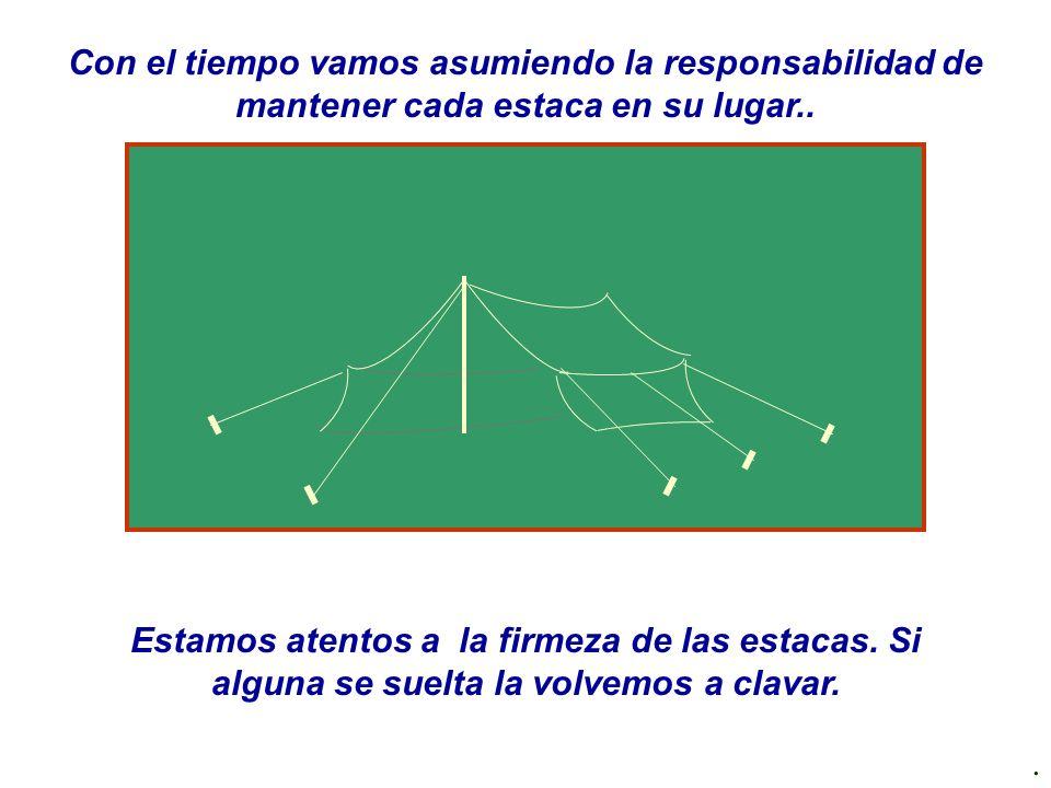 www.oratorianet.com Con el tiempo vamos asumiendo la responsabilidad de mantener cada estaca en su lugar..