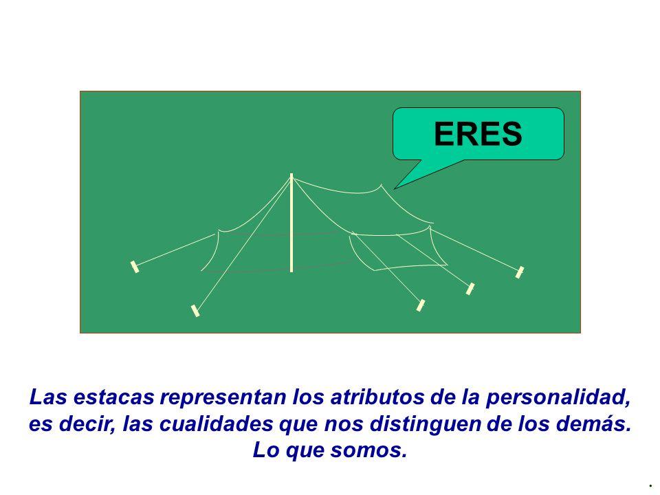 ERES Las estacas representan los atributos de la personalidad, es decir, las cualidades que nos distinguen de los demás. Lo que somos.