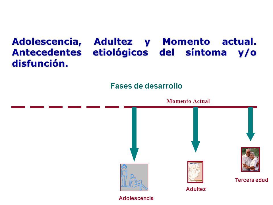 Adolescencia, Adultez y Momento actual