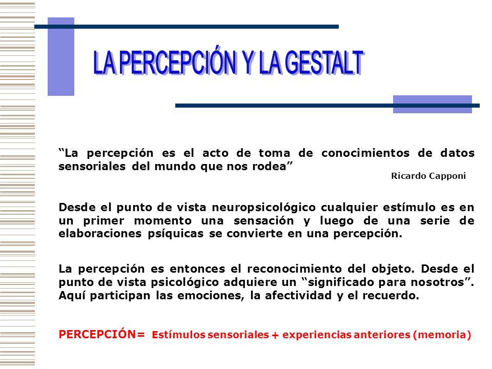 LA PERCEPCIÓN Y LA GESTALT