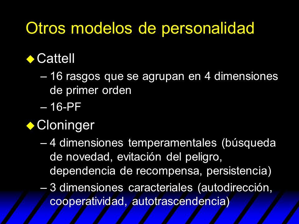 Otros modelos de personalidad