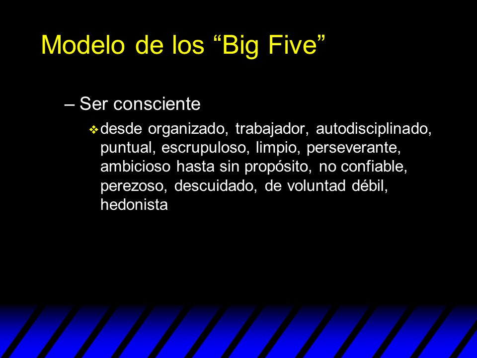 Modelo de los Big Five