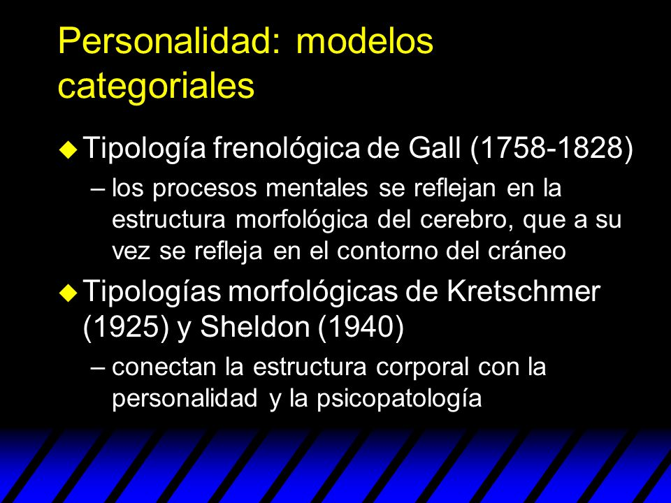Personalidad: modelos categoriales