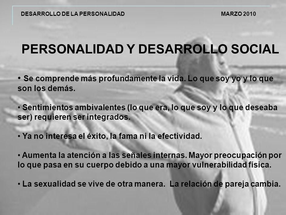 PERSONALIDAD Y DESARROLLO SOCIAL