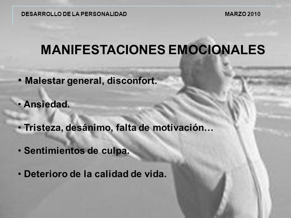 MANIFESTACIONES EMOCIONALES