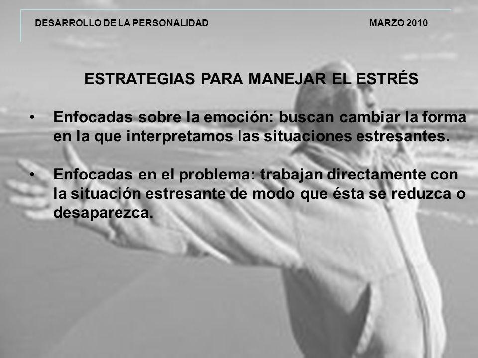 ESTRATEGIAS PARA MANEJAR EL ESTRÉS