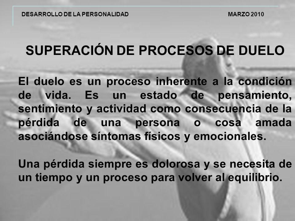 SUPERACIÓN DE PROCESOS DE DUELO