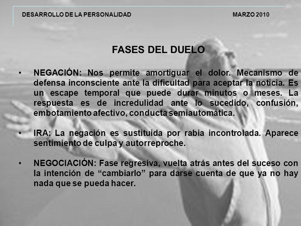 DESARROLLO DE LA PERSONALIDAD MARZO 2010