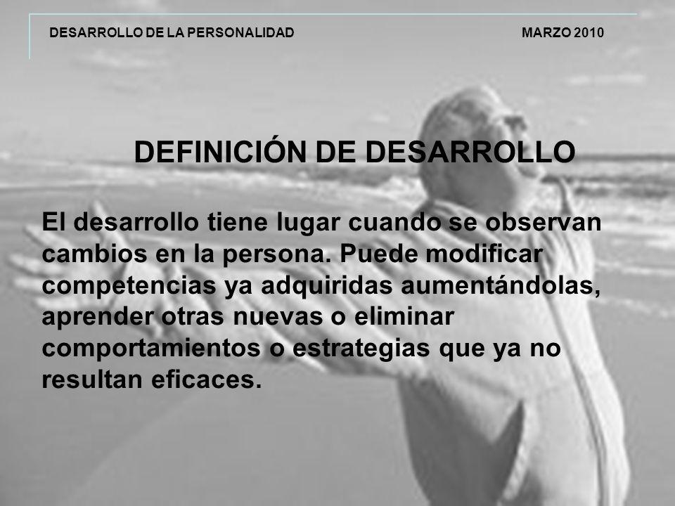 DEFINICIÓN DE DESARROLLO