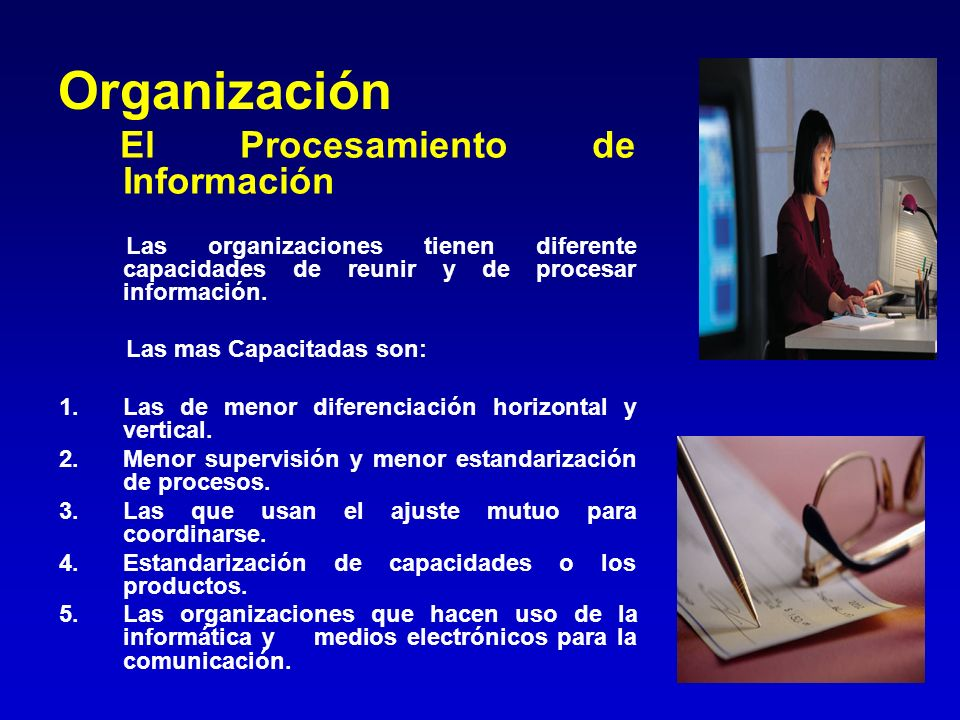 Organización El Procesamiento de Información