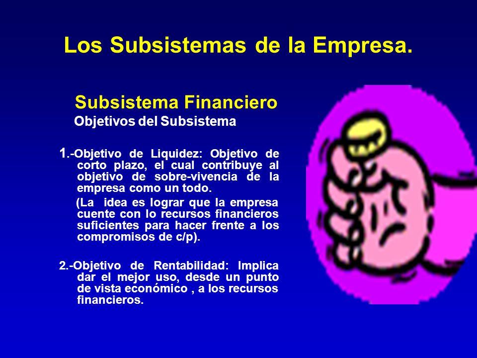 Los Subsistemas de la Empresa.