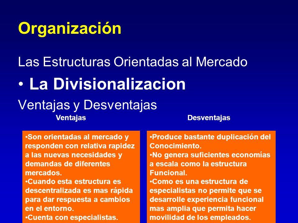 Organización La Divisionalizacion