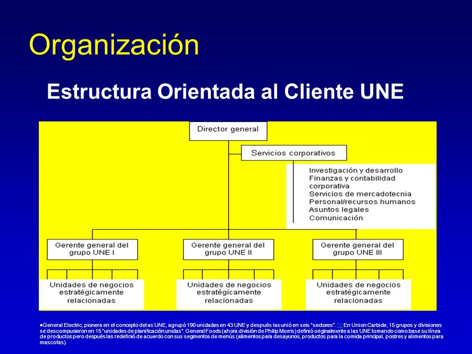 Organización Estructura Orientada al Cliente UNE
