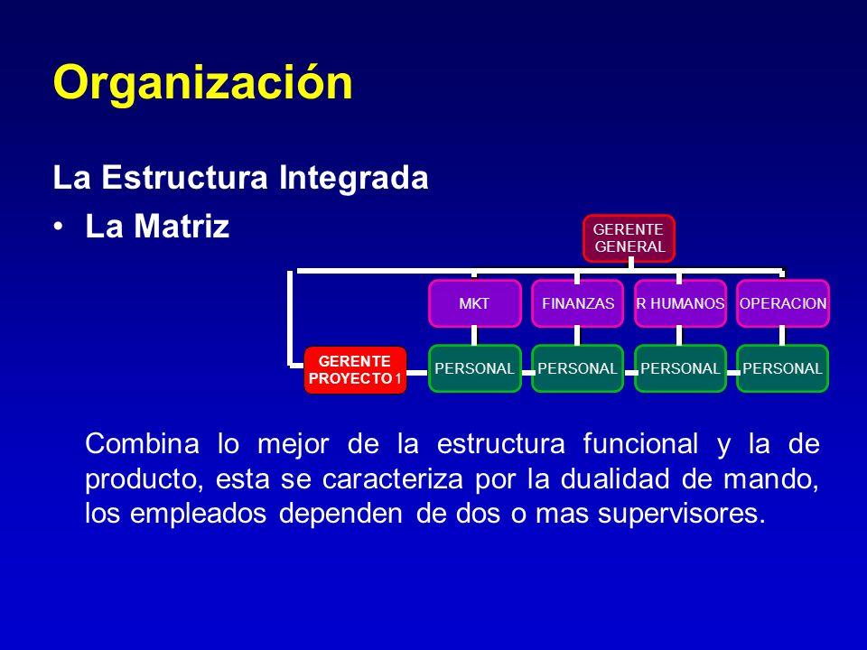 Organización La Estructura Integrada La Matriz