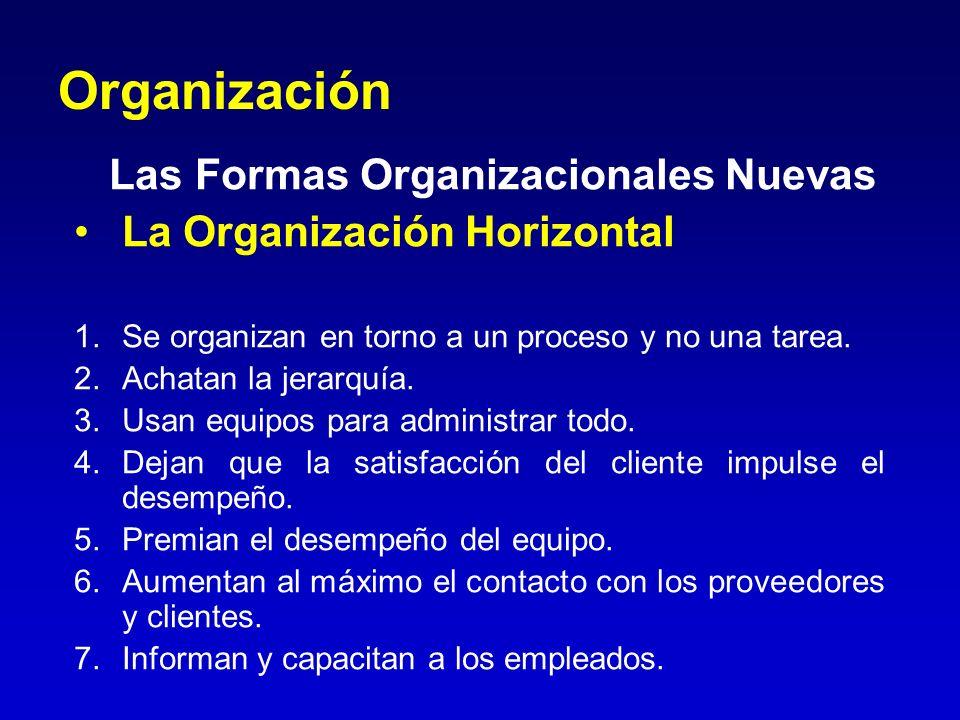 Organización Las Formas Organizacionales Nuevas