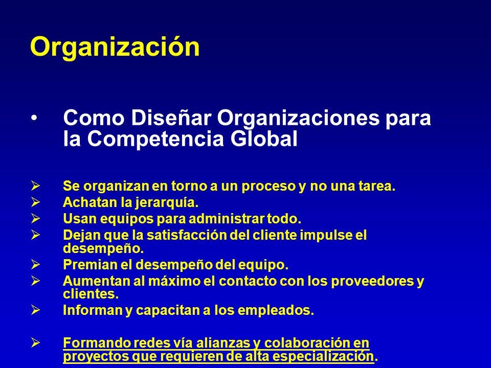 Organización Como Diseñar Organizaciones para la Competencia Global