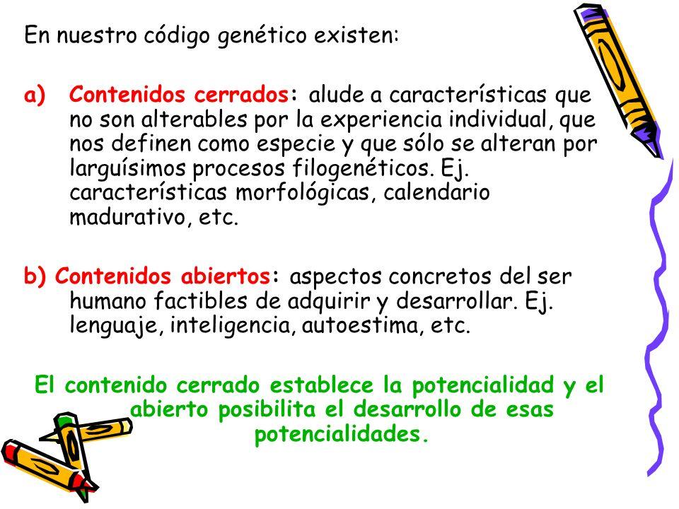 En nuestro código genético existen: