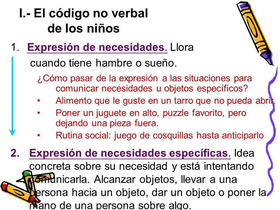 I.- El código no verbal de los niños