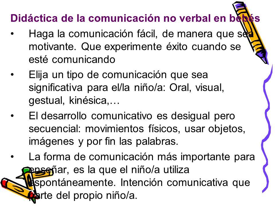 Didáctica de la comunicación no verbal en bebés
