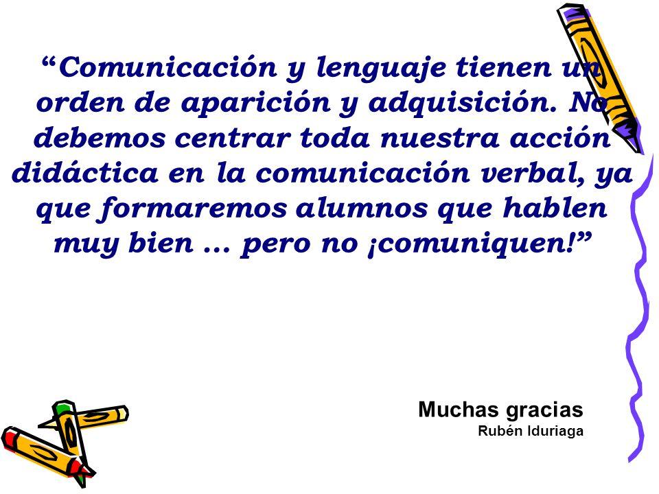 Comunicación y lenguaje tienen un orden de aparición y adquisición