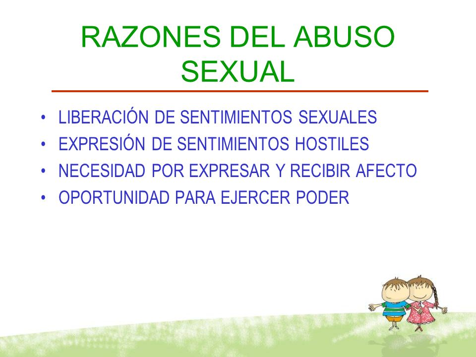RAZONES DEL ABUSO SEXUAL