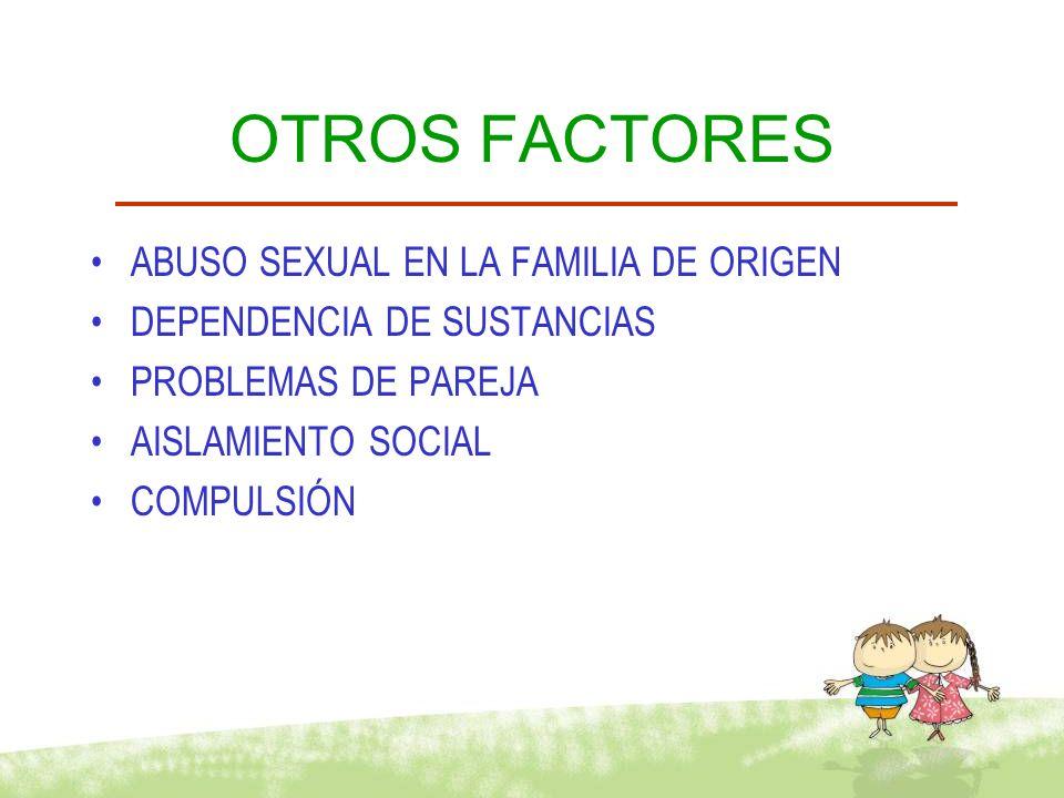 OTROS FACTORES ABUSO SEXUAL EN LA FAMILIA DE ORIGEN