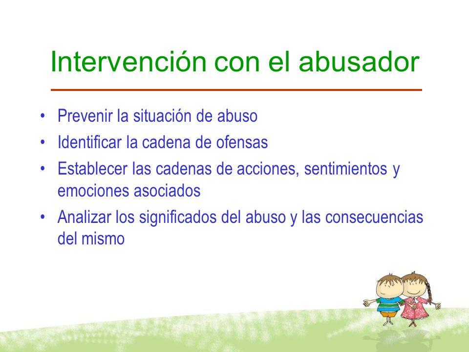 Intervención con el abusador