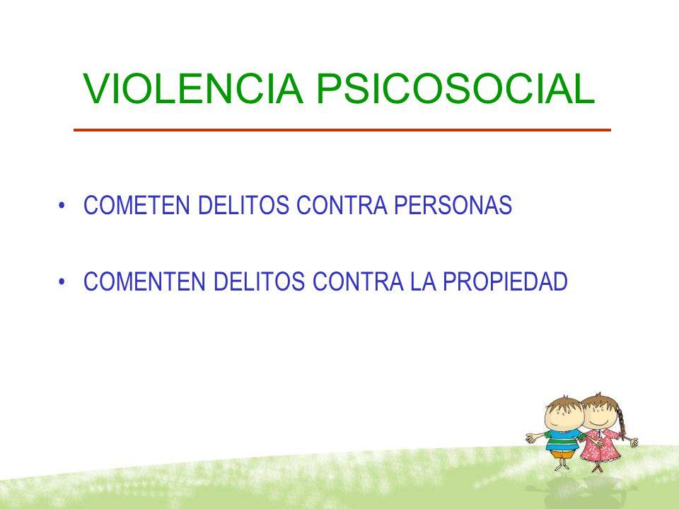 VIOLENCIA PSICOSOCIAL