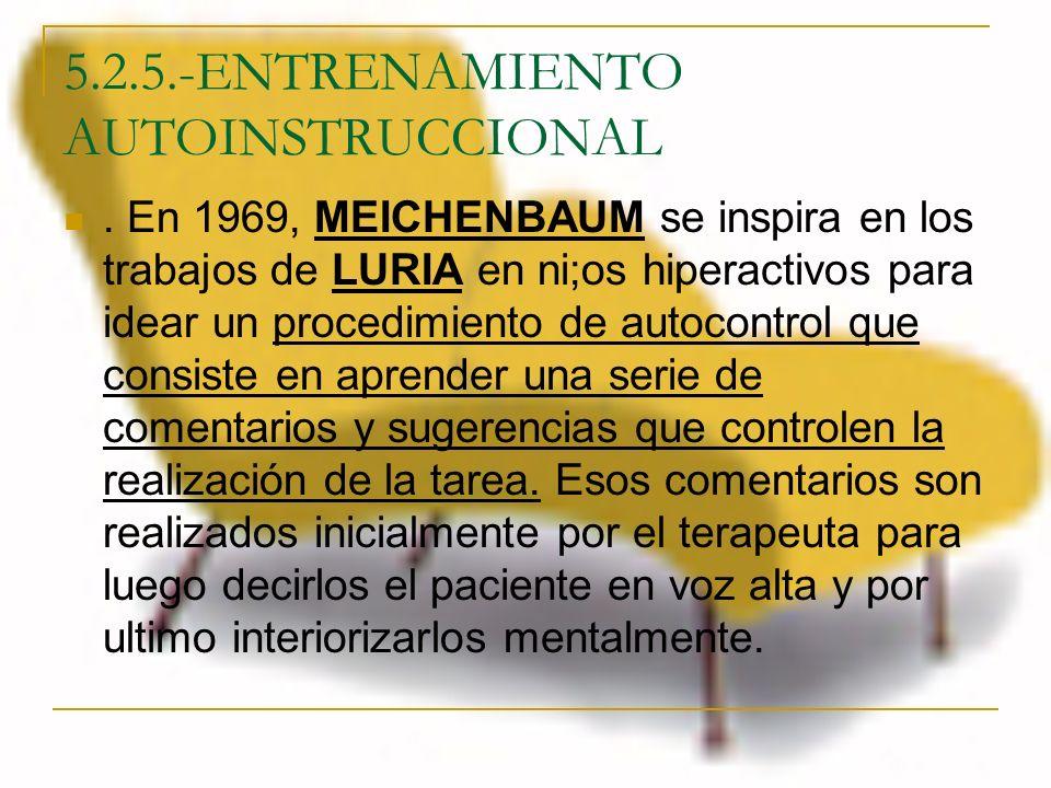 5.2.5.-ENTRENAMIENTO AUTOINSTRUCCIONAL