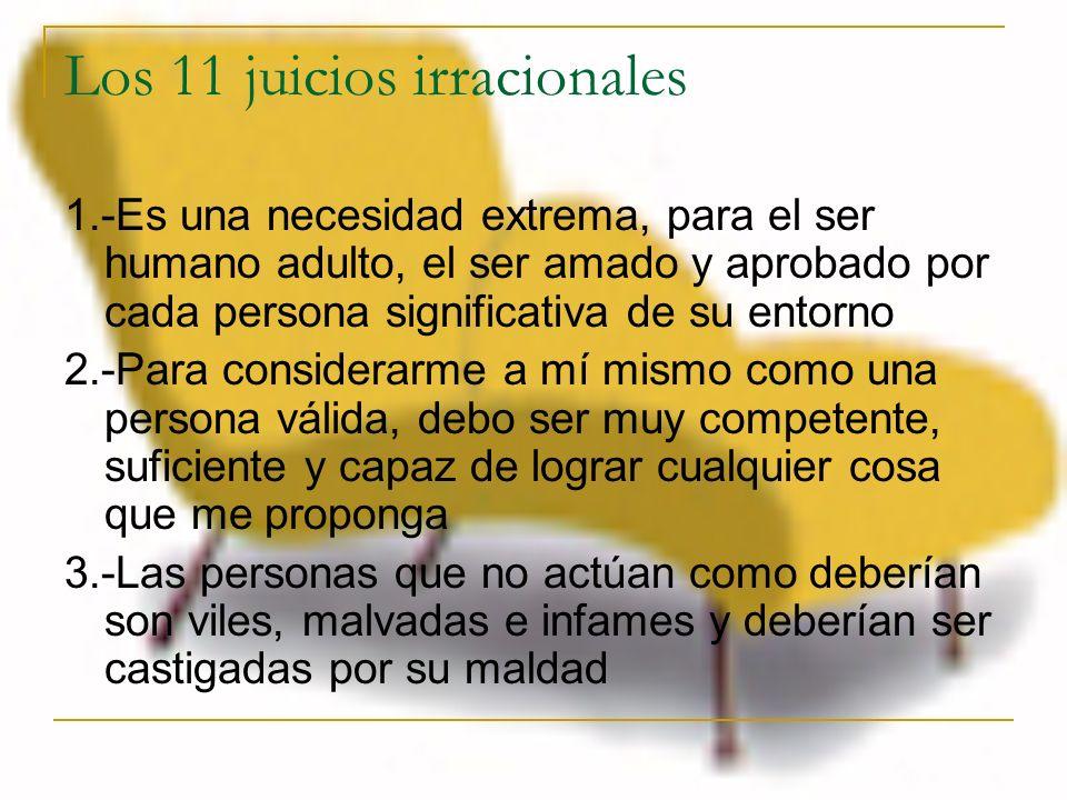 Los 11 juicios irracionales