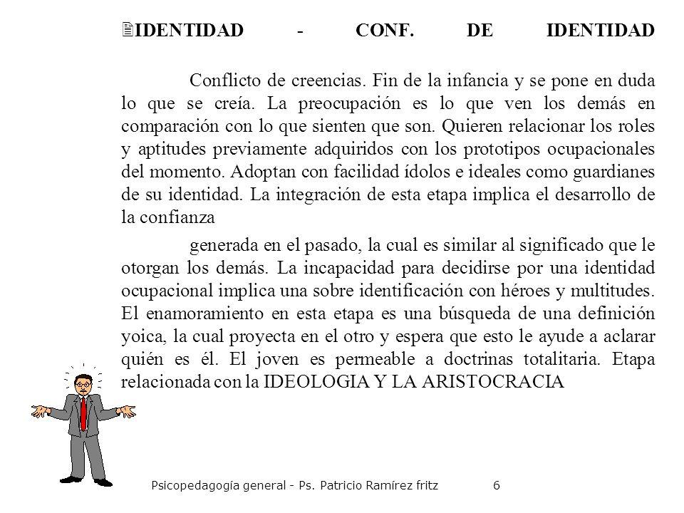 IDENTIDAD - CONF. DE IDENTIDAD